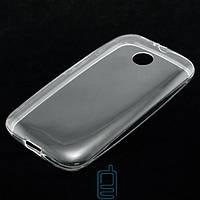Чехол силиконовый Motorola Moto E прозрачный