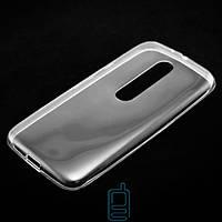 Чехол силиконовый Motorola Moto X3 прозрачный