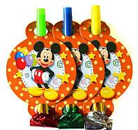 """Язычок-Гудок """"Микки Маус""""  / 6 шт. в упаковке. 004"""