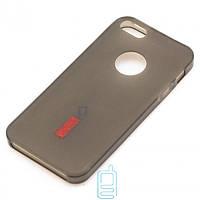 Чехол силиконовый+пленка для iPhone 5 matte затемненный