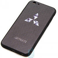 Чехол силиконовый MITSUBISHI CARBON iPhone 6 черный
