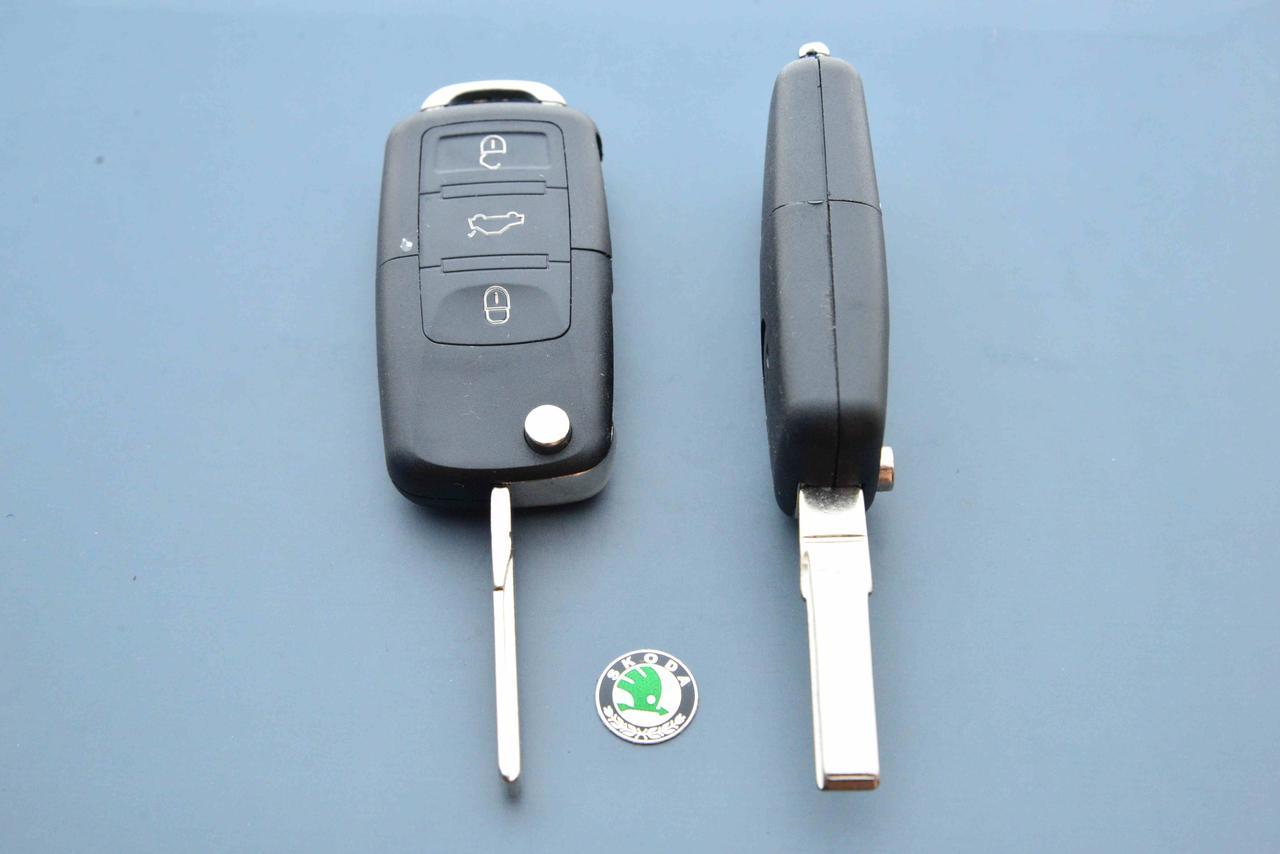 Корпус выкидного авто ключа для SKODA (шкода) 3 - кнопки