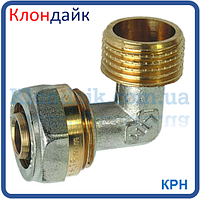Угол для металлопластиковой трубы с наружной резьбой 26х1