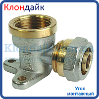 Угол для металлопластиковой трубы монтажный с внутренней резьбой 20х1/2