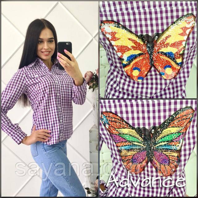 9ece1c791fc Женская хлопковая рубашка с вышивкой
