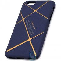 Чехол силиконовый Nillkin iPhone 6 matte blue-gold