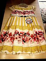 Красивое нарядное детское платье на девочку