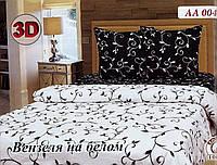 """Комплект постельного белья бязь Тиротекс """"Вензеля на белом 3D"""""""