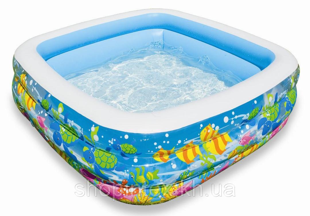 Надувной бассейн Аквариум 159х159х50см, Intex 57471