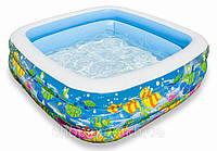 Надувной бассейн Аквариум 159х159х50см, Intex 57471, фото 1