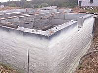 Напыляемая теплоизоляция цоколя, фундамента, бассейна