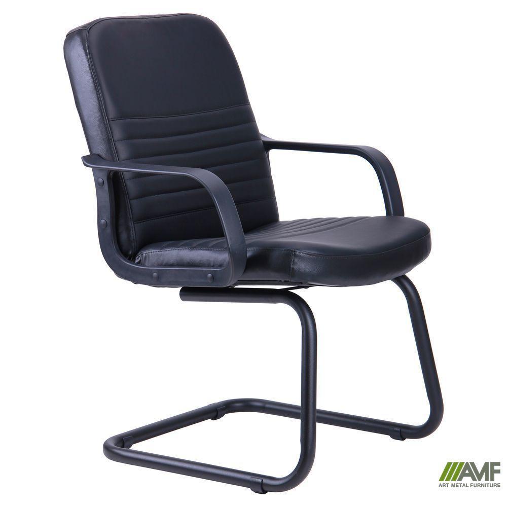 Кресло Чинция CF Кожа Сплит черная