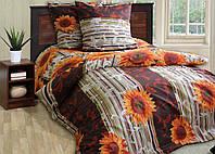 Двуспальное постельное белье Подсолнухи
