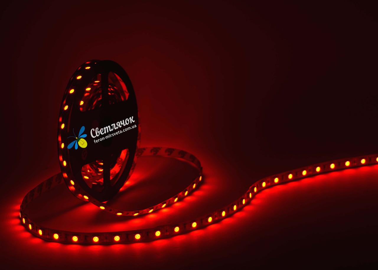 Светодиодная лента красная MTK 14,4Вт/м. smd 5050 IP20