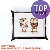 Поднос с подушкой смешные Совы /аксессуары для дома