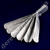 Помпон из тишью, серебро, 35 см