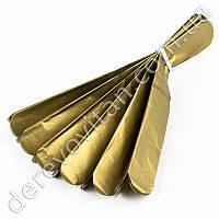 Помпон из тишью, золото, 25 см