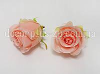 Головка розы 6см ткань.