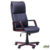 Кресло Техас Экстра бук Кожа Сплит черная, фото 1