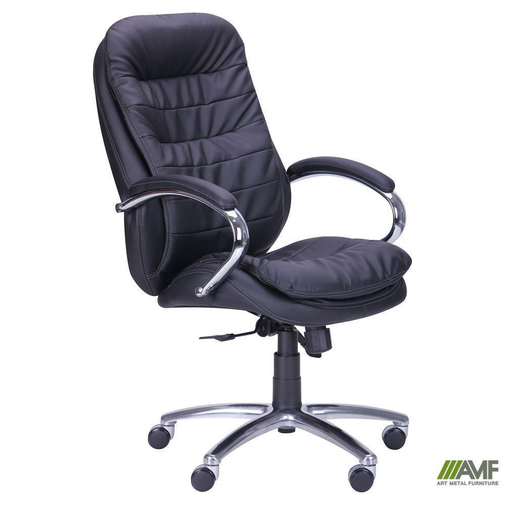 Кресло Валенсия HB Механизм ANYFIX Кожа Люкс комбинированная Темно-коричневая