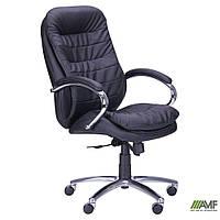 Кресло Валенсия HB Механизм ANYFIX Кожа Люкс комбинированная Темно-коричневая, фото 1
