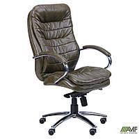 Кресло Валенсия HB Механизм MB Кожа Люкс комбинированная Авокадо, фото 1