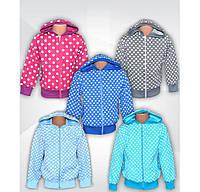 Куртка (кофта) детская на молнии для девочки Зайка Капитон, р.р.26-40