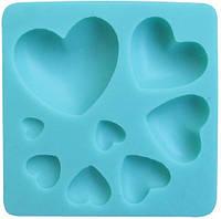 Молд кондитерский для мастики Сердечки Empire ЕМ 8227, 73*73 мм