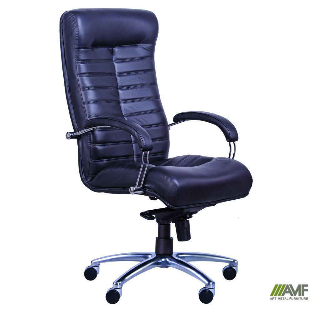 Кресло Орион HB хром Кожа Люкс двухсторонняя коричневая