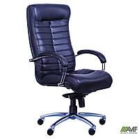 Кресло Орион HB хром Кожа Люкс двухсторонняя коричневая, фото 1