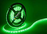 Светодиодная лента зеленая MTK 4,8Вт/м. smd3528 в силиконе (аналог LS604)