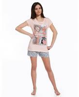 """Летний комплект (футболка+шорты) для девочки """"Лондон"""" ТМ Cornette оптом, Польша  р.S (164см)"""