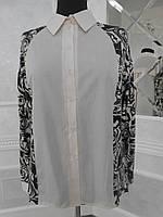 Блуза-рубашка женская с трикотажными вставками большого размера