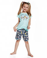 """Детская пижама для девочки (футболка+шорты) """"Ice Cream"""" ТМ Cornette оптом, Польша  р.(134-140 см)"""