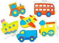 НОВИНКА!  Набор игрушек для купания на присосках Kinderenok Fixi Транспорт