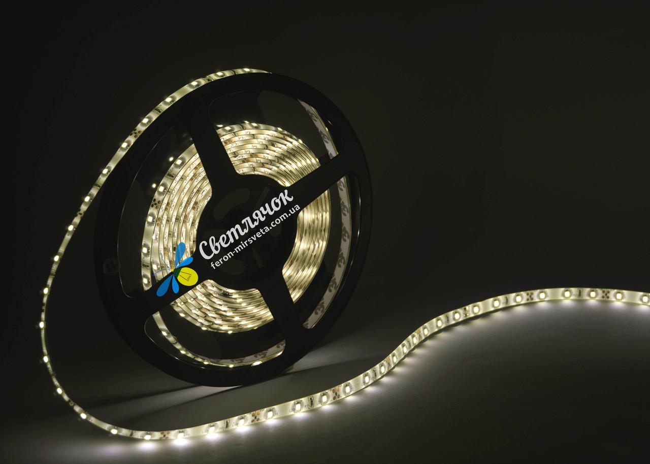 Светодиодная лента MTK белая теплая 4,8Вт/м. smd 3528 в силиконе (аналог LS604)
