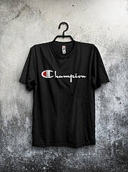 Мужская футболка Champion 🔥 (Чемпион) черный