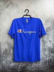 Мужская футболка Champion 🔥 (Чемпион) синий