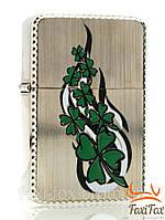 Зажигалка бензиновая с рельефной окантовкой и оригинальным рисунком
