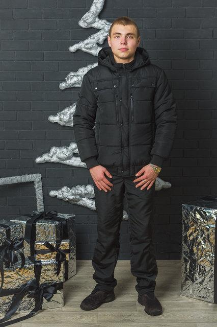 """Стильный, теплый зимний мужской костюм на слимтексе """"МАКС-2"""" (44-60 р-ры)"""