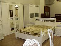 Румынская спальня Берштейн в стиле прованс  (кровать, тумбы, шкаф).