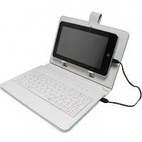 Удобный чехол-клавиатура для планшетов 8 дюймов, из кожзаменителя, белый