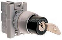 Переключатель кнопочный поворотный c двухпозиционным ключом Spamel SP22-SA