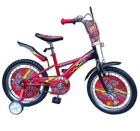 Велосипед  детский двухколесный Тачки 14 дюймов, фото 2