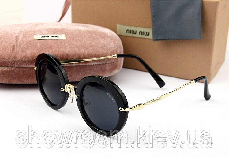 Солнцезащитные очки в стиле Miu Miu (smu13n) black