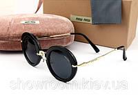 Солнцезащитные очки в стиле Miu Miu (smu13n) black, фото 1