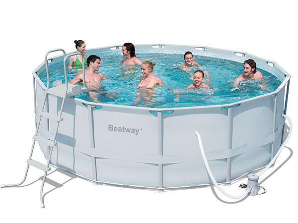 Каркасный круглый бассейн BestWay 56444/56263 (427x122 см)