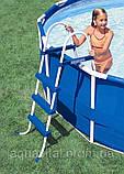 Каркасный круглый бассейн BestWay 56451 (488x122 см) с картриджным фильтром, фото 3