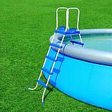 Каркасный круглый бассейн BestWay 56280 (549*132 см) с песочным фильтром, фото 2