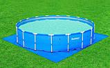 Каркасный круглый бассейн BestWay 56280 (549*132 см) с песочным фильтром, фото 4